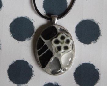 pendentif pâtes de verre perles et millifiori (2)